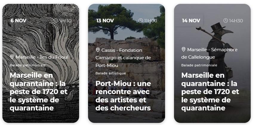 automne des calanques Marseille, cassis La Ciotat programme