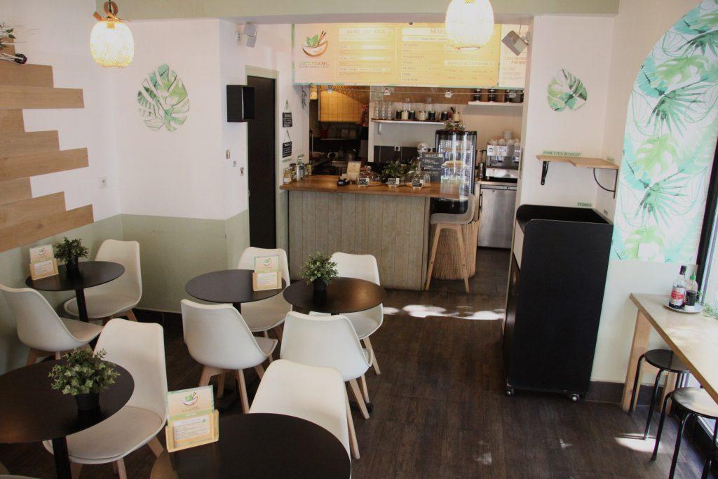 salle du restaurant Green Bowl à Aix-en-provence