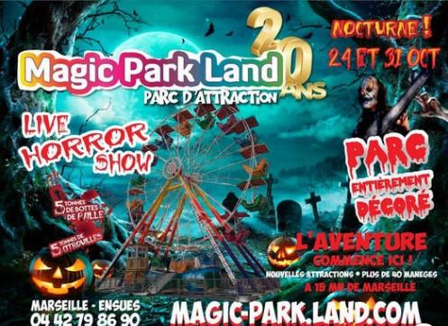 Halloween au parc de loisirs Magic Park Land à Ensues