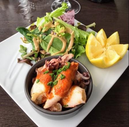 salade gambas restaurant chai les copains bordeaux quai bacalan