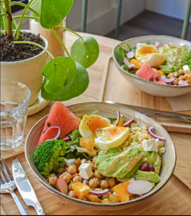 salade vegan restaurant chez albert la rochelle