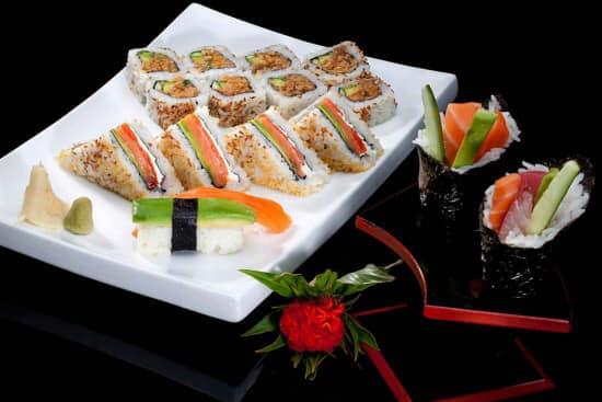 vente a emporter de sushi au panier