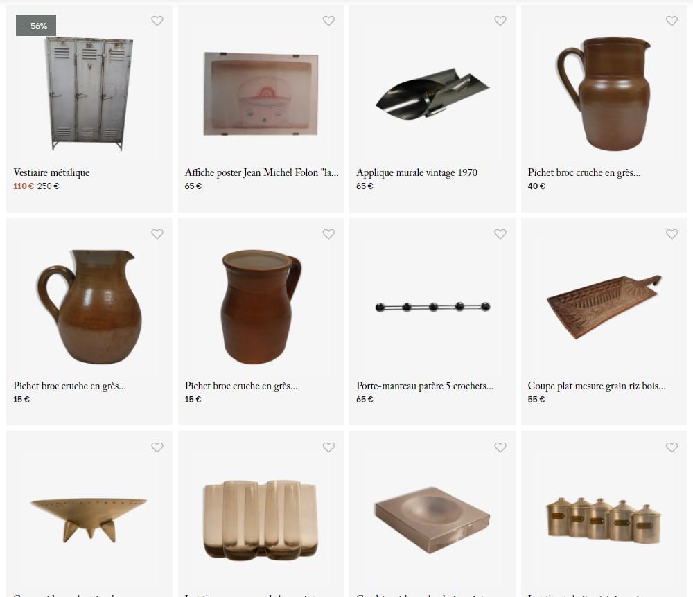site e-commerce de la boutique déco et vintage Art Design Etc dans le 13006 à marseille