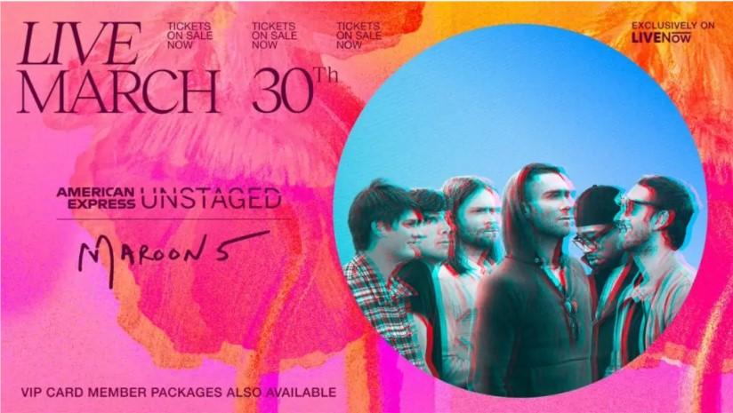 concert de maroon 5 en live stream le 30 mars 2021