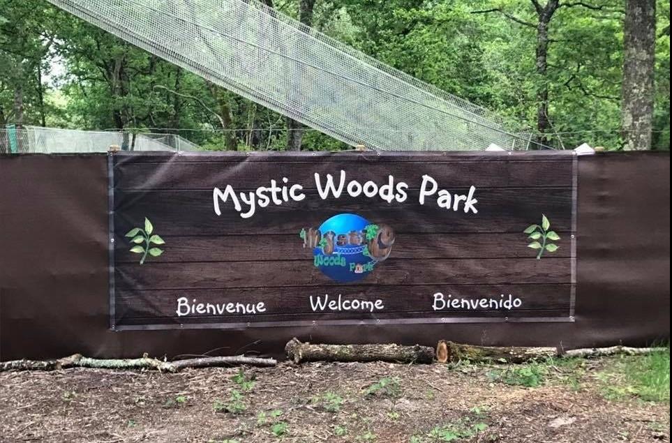 mystic woods park à fargues de langon entrée