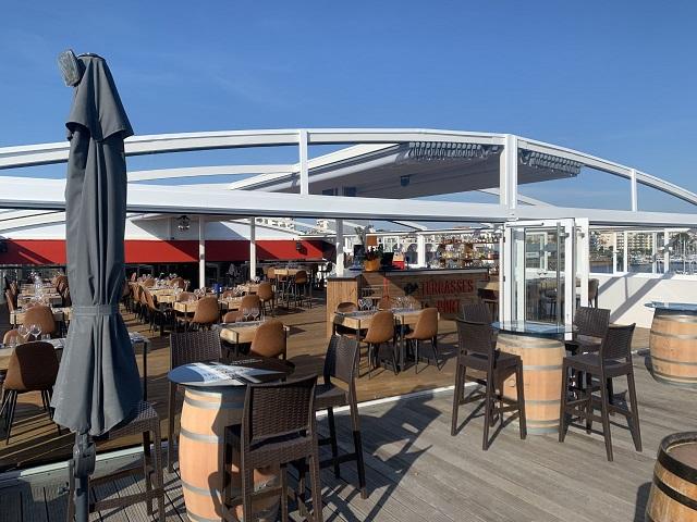 brunch dejeuner dinet sur le rooftop des terrasses du port à arcachon