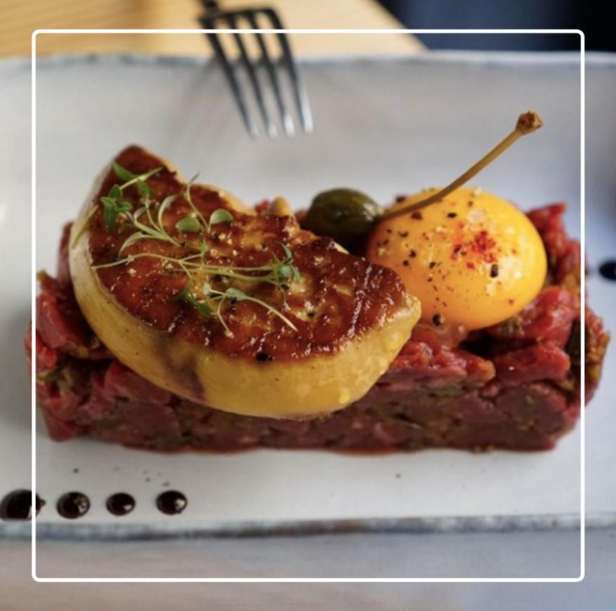 tartare rossini d'Elodie Pichard cheffe du Cru restaurant à Bordeaux