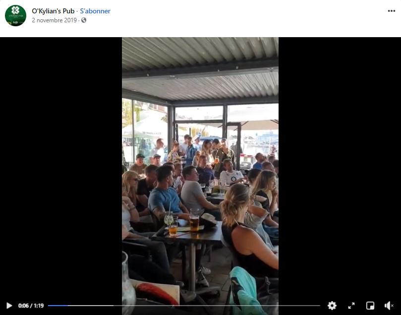 ambiance match au Kylian's Pub sur le vieux port de la ciotat