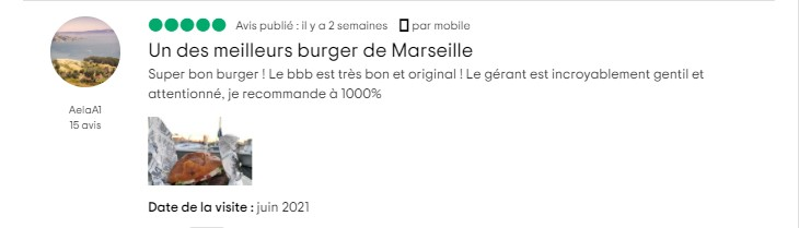 avis client restaurant burger's banquet 13001 marseille