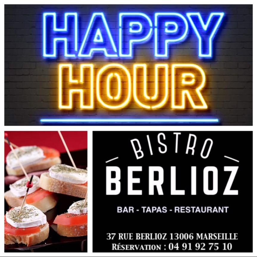 happy hour le mardi au bistro berlioz 13006 marseille