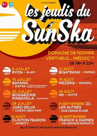 jeudis sunska scenes d'été gironde 2021