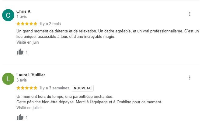 avis clients sur la péniche Naturaflo à Bordeaux