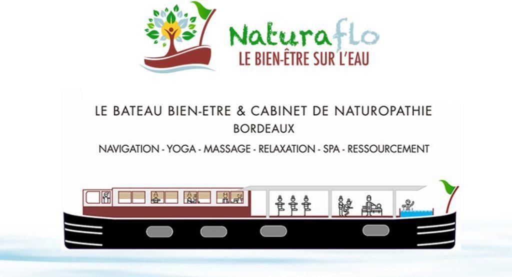Bateau Naturaflo, péniche bien-être à Bordeaux
