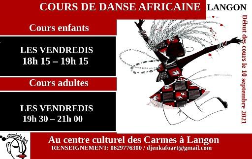 cours de danse africaine aux carmes à Langon avec l'association Djenkafoart pour enfant et adulte