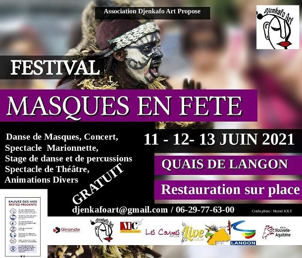 festival Masque en fête à Langon édition 2021