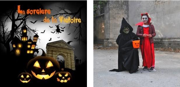 Jeu halloween dans la ville de Bordeaux, place de la Victoire