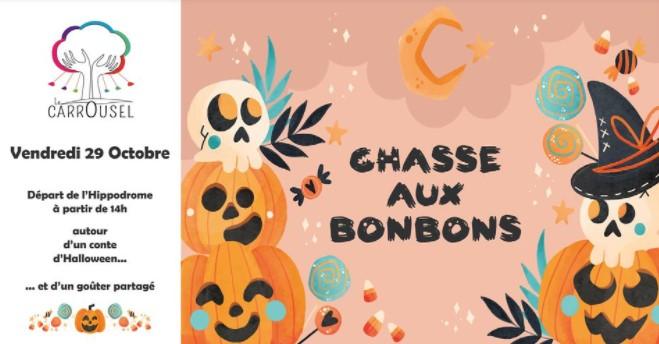 chasse aux bonbons pour halloween Le Bouscat