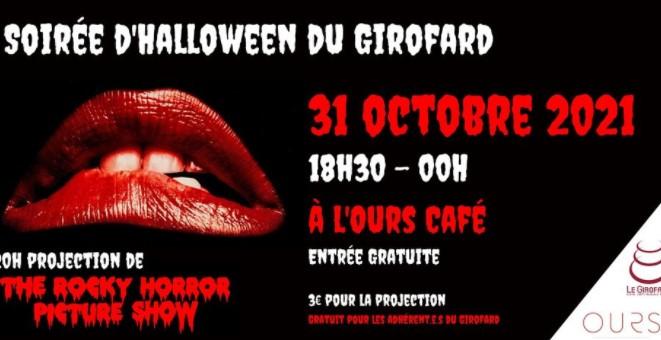 Projection du film Horro Pictures Show pour Halloween à l'Ours Café à Bordeaux