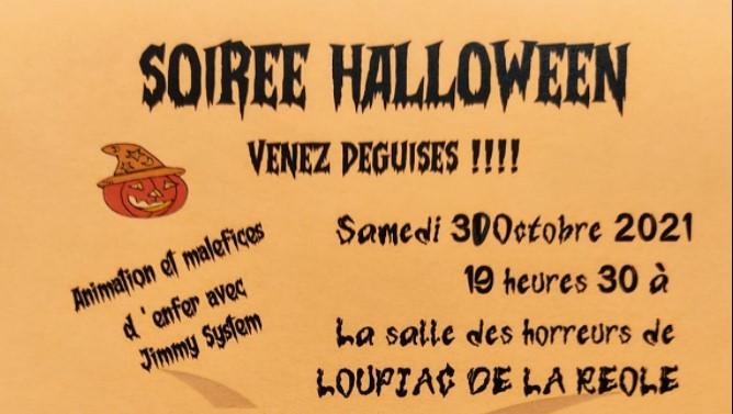 soirée halloween à la Réole pour enfant et adulte