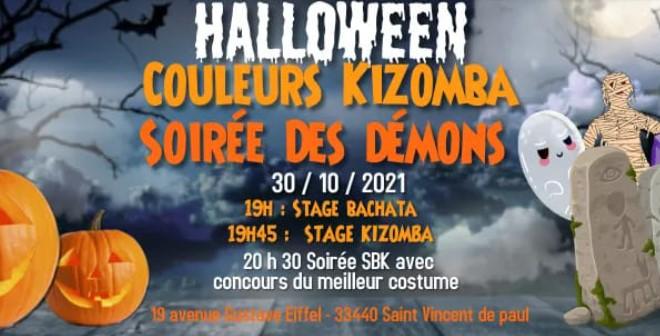 Soiirée Halloween à Saint Vincent de Paul en Gironde, soirée salsa