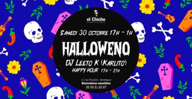 soirée halloween au Bar El Chicho à Bordeaux