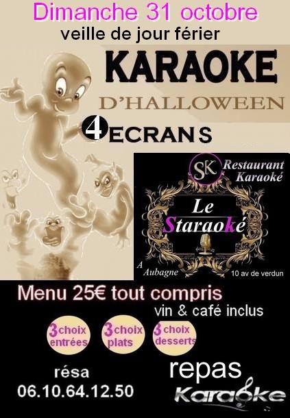 soirée karaoké halloween au restaurant Le Staraoké à Aubagne